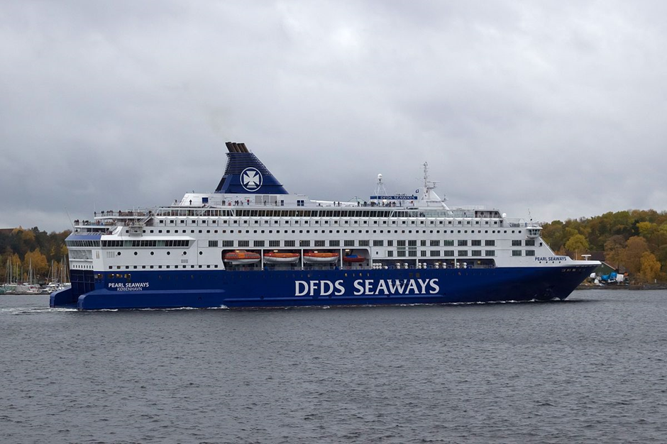 Fire drill at MS Pearl Seaways DFDS