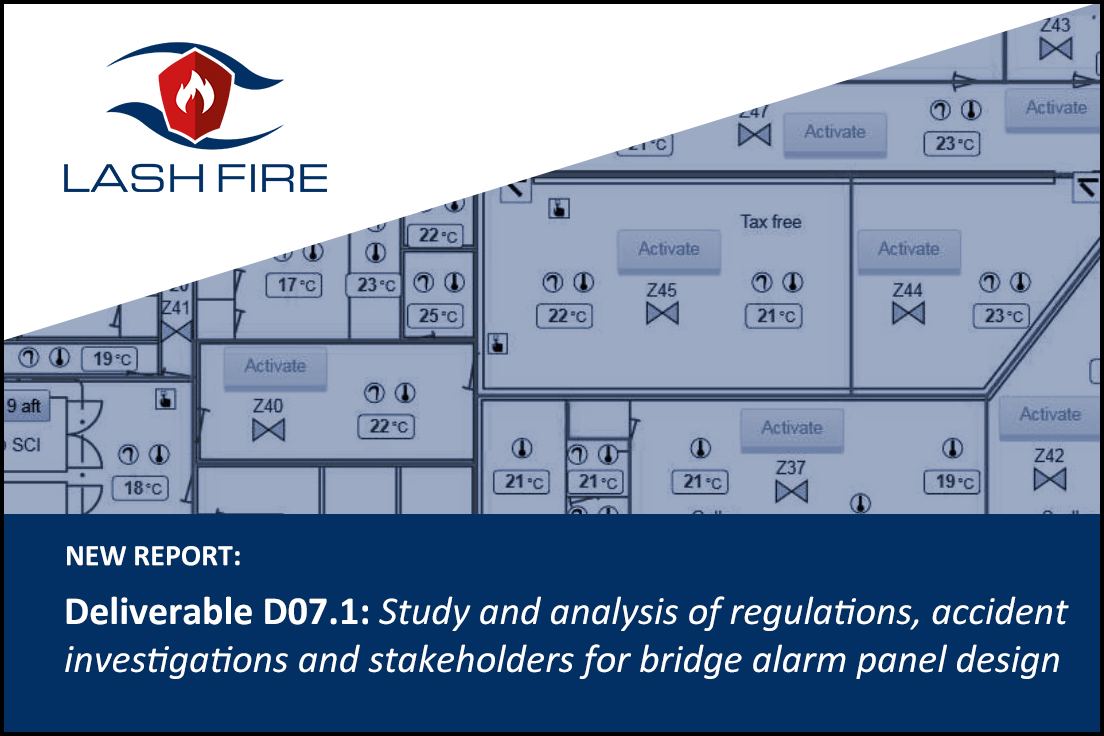 Welcome to read the Deliverable D07.7 report: Study and analysis of regulations, accident investigations and stakeholders for bridge alarm panel design